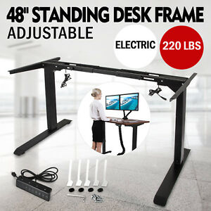 Electric Standing Desk Frame Sit Stand Table Work Desk Dual Motorus Stock