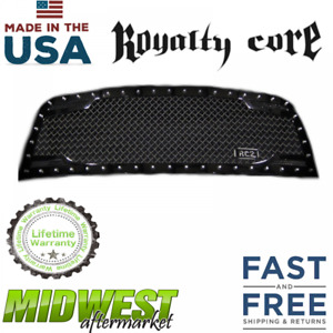 Royalty Core Rc2 Stainless Steel Twin Mesh Grille Fits 2013 2018 Dodge Ram 1500