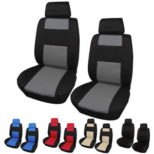2 Front Car Seat Cover 2 Head Rests Cover Universal Auto Cushion Protector