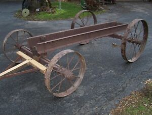 Old Peru Plow Co Waterloo Hit Miss Gas Engine Truck Cart Magneto Steam Oiler