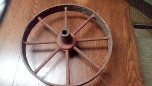Vintage Farm Implement Steel Wheel Spoke Wagon Wheel 15