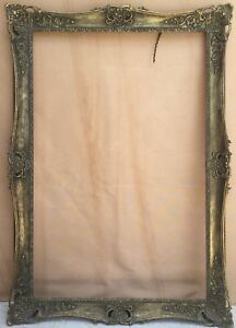 Antique Museum Gold Wood Frame 31 5 X 48