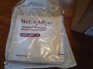 Welch Allyn Flexiport Soft Disposable Blood Pressure Cuff Lg Adult 12 box qt 20