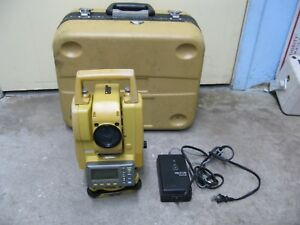 Topcon 3 Total Station Gpt 3003lw W Battery Bluetooth Case Stand