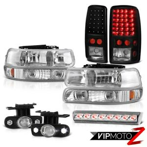00 06 Chevy Suburban Z71 Roof Brake Lamp Fog Lights Black Rear Lamps Headlights
