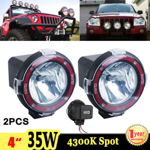 2x 4 35w Xenon Hid Work Light Spot Driving Fog Lamp 4300k Offroad Atv Boat Suv