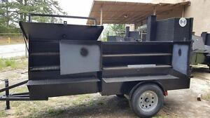 Rib Master Street Vendor Mobile Kitchen Bbq Smoker 30 Grill Trailer Food Truck