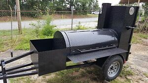 Start A Bbq Concession Business Reverse Plate Smoker Grill Trailer Food Truck