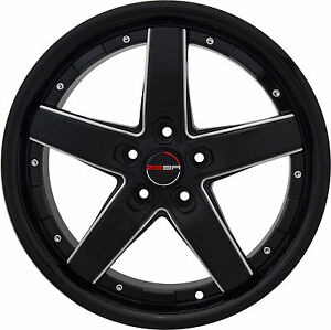4 Gwg Wheels 18 Inch Black Mill Drift Rims Fits Infiniti Fx35 2003 2012