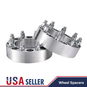 Pair 2 Wheel Spacers Adapters 8x6 5 For Chevy C K 2500 3500 Gmc 14x1 5 Studs