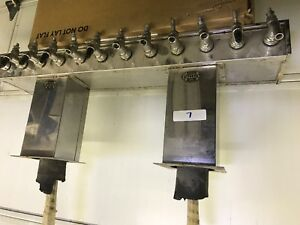 Used Perlick 12 Head Tap Draft Beer Tower Chrome Glycol Ready