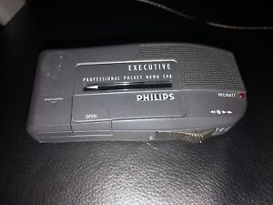 Philips Executive 598 Professional Pocket Memo Recorder