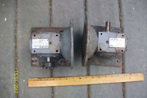 Link belt 90 Degree Worm Gear Speed Reducer 20 1 Used