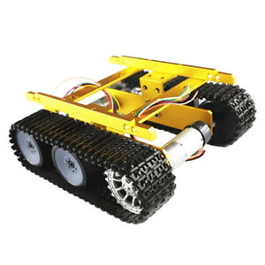 Smart Robot Tracked Car Tank Chassis Kit 150rpm Coded Dc Motor For Arduino