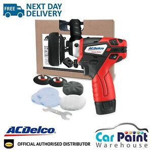 AC Delco ARS1212 Mini Polisher 3 Inch Kit Detailing Rechargable Battery