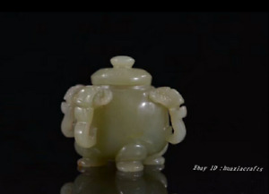 5 8cm Collect China Natural Hetian Jade Hand Carved Incense Burner Censer Hjjo