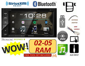 02 03 04 05 Dodge Ram Cd dvd Bluetooth Usb Kenwood Stereo Radio
