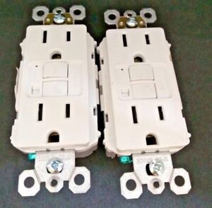 Lot Of 2 Pass Seymour 1597traw Tamper Alarm Gfci Receptacle White Free Shipping