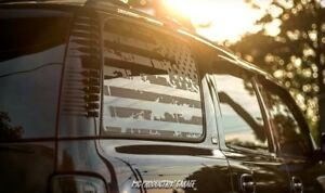 Tahoe American Flag Decals Stickers Vinyl Chevy Denali Gmc Window Flags Usa