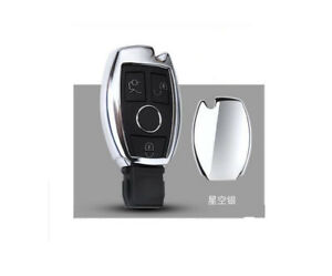 Chrome Car Remote Control Key Case Cover For Gla Glc C S E Series A Key To Start