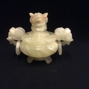 Vintage Chinese Jade Incense Burner