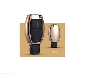 Golden Car Remote Control Key Case Cover For Gla Glc C S E Series A Key To Start