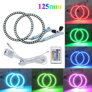 125mm Rgb Color Led Angel Eyes Halo Rings Without Control Led Headlight 4pcs