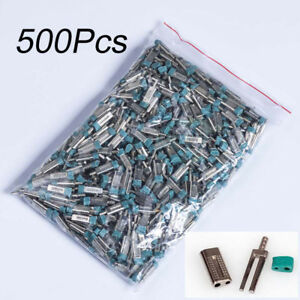 500pcs Dental Lab Stone Model Work Use Double Twin Master Pins With Sleeves