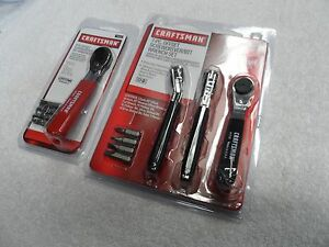 Craftsman Offset Screwdriver Bit Ratchet Wrench Set Made In Usa Lot 12 Pcs