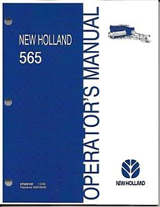 New Holland 565 Square Baler Operator Manual 87528192