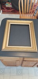 Vintage Mid Century Gold Wash Carved Wood Picture Frame Fits 17 5 X 13 5