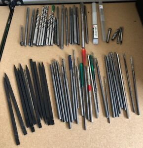 Lot Of 55 Machinist Reamers Bits End Mills Various Sizes Aircraft Carbide