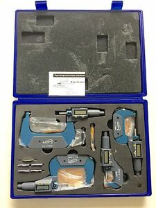 Igaging 0 4 Digital Electronic Micrometer Set 0 1 1 2 2 3 3 4 Large Lcd