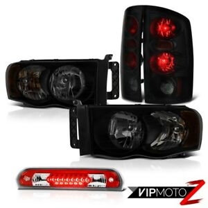 02 05 Dodge Ram 1500 2500 5 7l Headlights Red Clear Third Brake Lamp Taillamps