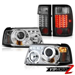 Euro Halo Led Projector Headlights Black Tail Lights 2001 2011 Ford Ranger Sport