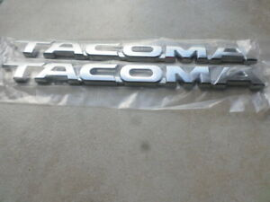 11 15 New Toyota Tacoma Chrome Logo 75427 04020 c1 Emblem Nameplate Decal Set