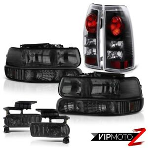 Tinted Parking Headlamp Rear Signal Brake Light Fog 99 02 Silverado Duramax 6 6l