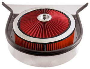 Spectre 98523 Performance Cowl Hood Air Cleaner Air Box 5 Tall Red Filter