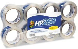 Duck 8 pack 1 88 in X 180 ft Clear Packing Tape Super Strong Tape Acrylic New