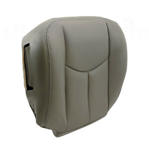 For 2003 2004 2005 2006 Chevy Tahoe Suburban Driver Bottom Seat Cover Gray 922