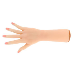 Realistic Silicone Women Right Hand Model Jewelry Display Props Nail Art