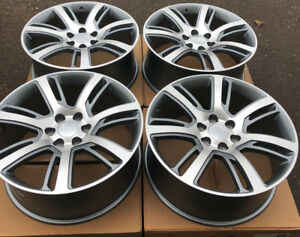 Set Four 22 Machined Grey Wheels Rims Fit Chevrolet Tahoe Suburban Silverado New