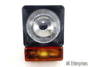 Jcb Loadall Fastrac Front Headlight Head Lamp With Indicator Assembly