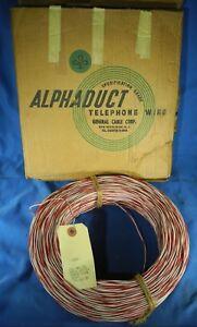 New 1000ft 22awg Roll Telephone Jumper Frame Wire White Red General Cable