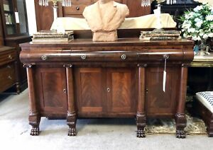 American Classical Empire Mahogany Sideboard Second Quarter 19th Century