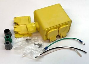 Woodhead 3000 Weatherproof Portable Power Box Complete Kit With 2 Receptacles