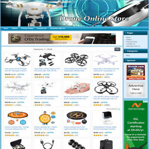 Drones Electronic Store Turnkey Online Website Amazon Google Affiliate Biz