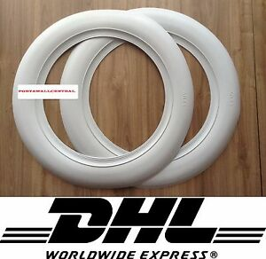 Atlas 2 New Wide White Wall 15 Car Tire Insert Trim 2 Pcs Spare