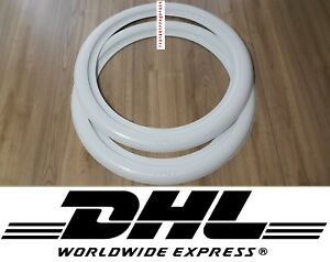 Spare White Wall Portawall Side Wall Topper 16 X2 Wide Tire Insert Trim 2pcs