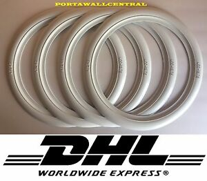 15 75 Inch White Wall Portawall Tire Insert Trim Set X4